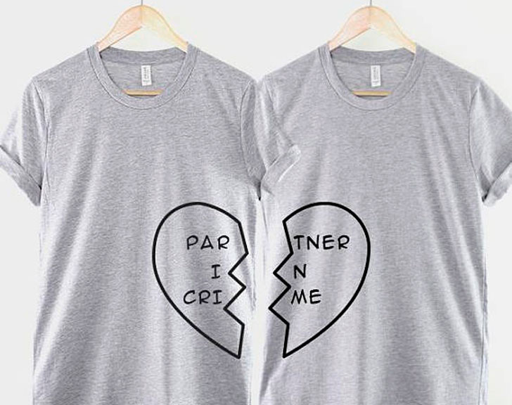 Partners In Crime Half Heart T-Shirts