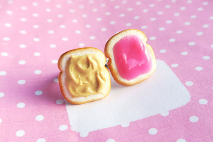Peanut Butter & Jelly BFF Rings