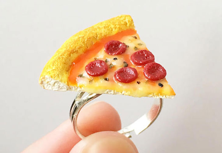 Pepperoni Pizza Ring - unusual rings