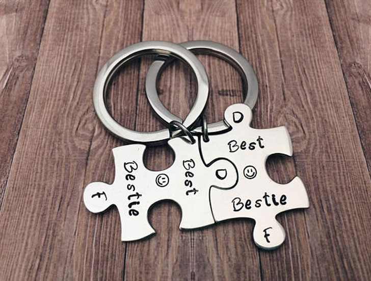 Personalised Jigsaw Puzzle Piece Keyrings