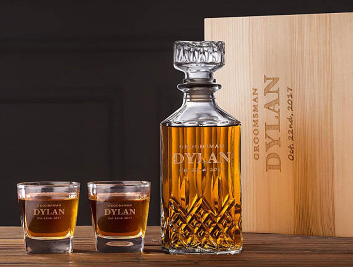 Personalized Decanter Gift Set