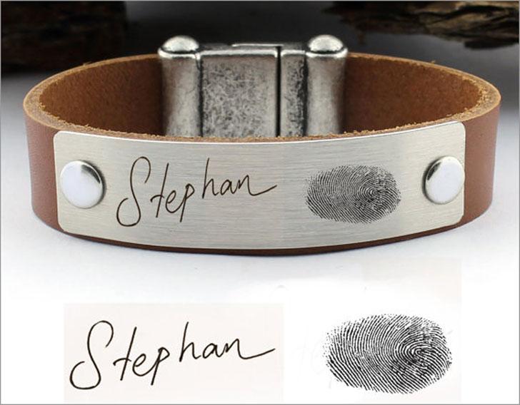 Personalized Fingerprint Bracelet