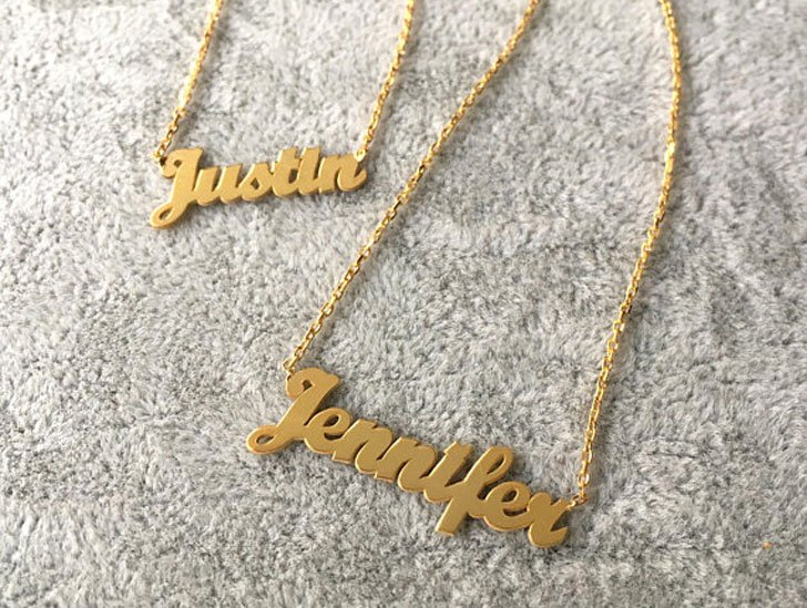 Personalized His and her Name Necklaces