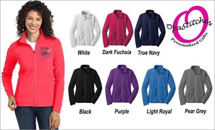 Personalized Micro Fleece Nursing Jackets