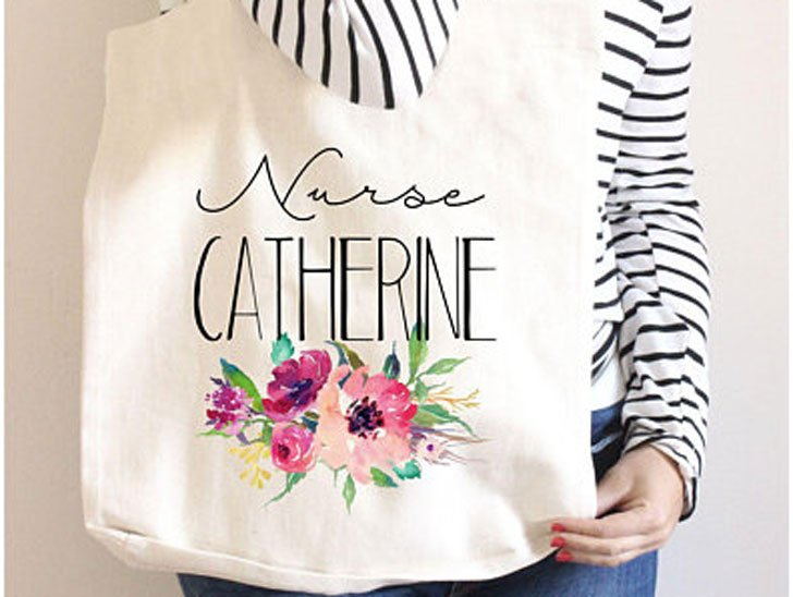 Personalized Nurses Tote Bag