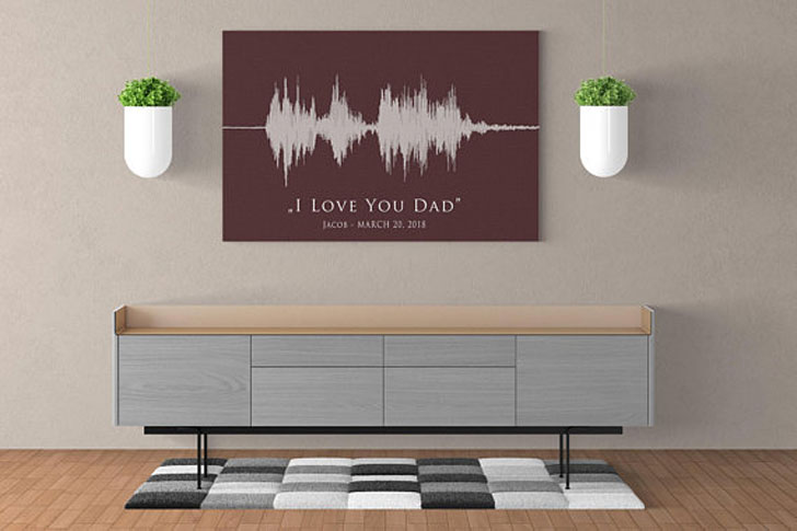 Personalized Soundwave Canvas Prints - Sentimental Gifts For Best Friends
