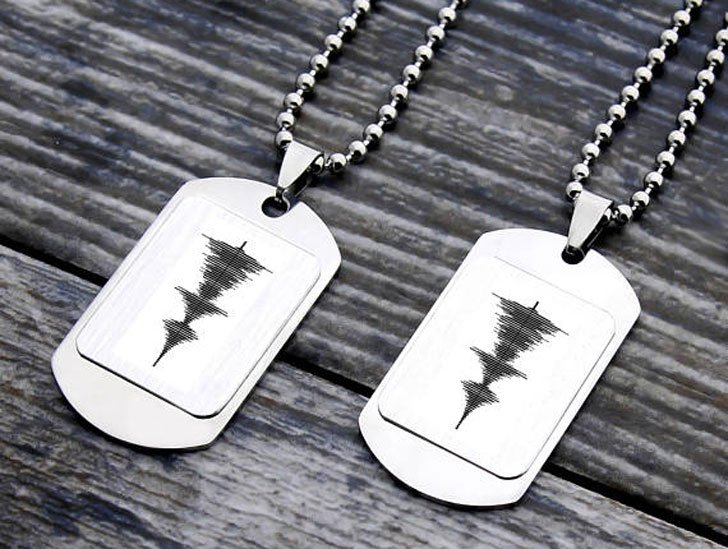 Personalized Soundwave Necklace - Sentimental Gifts For Best Friends