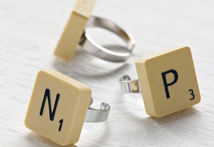 Scrabble Letter Ring - unusual rings