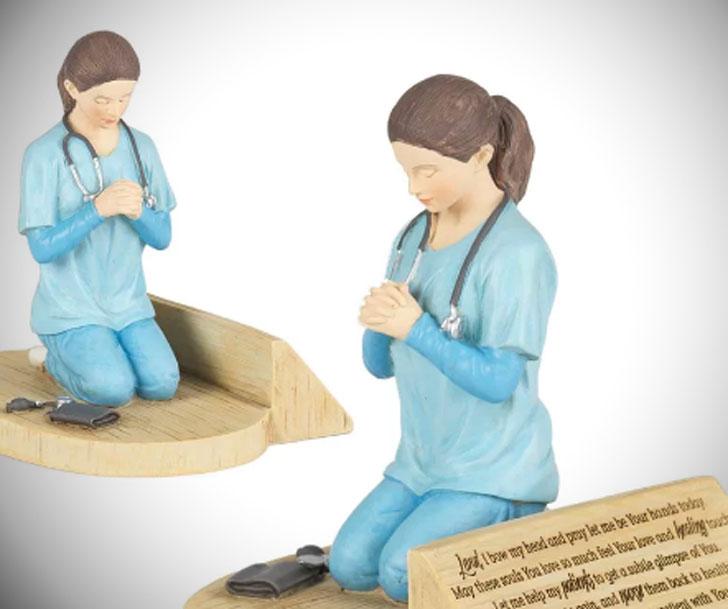 Winstone Porter Nurse Prayer Figurines
