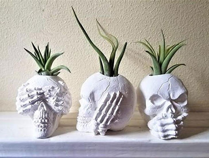 See, Hear and Speak No Evil Skull Planters