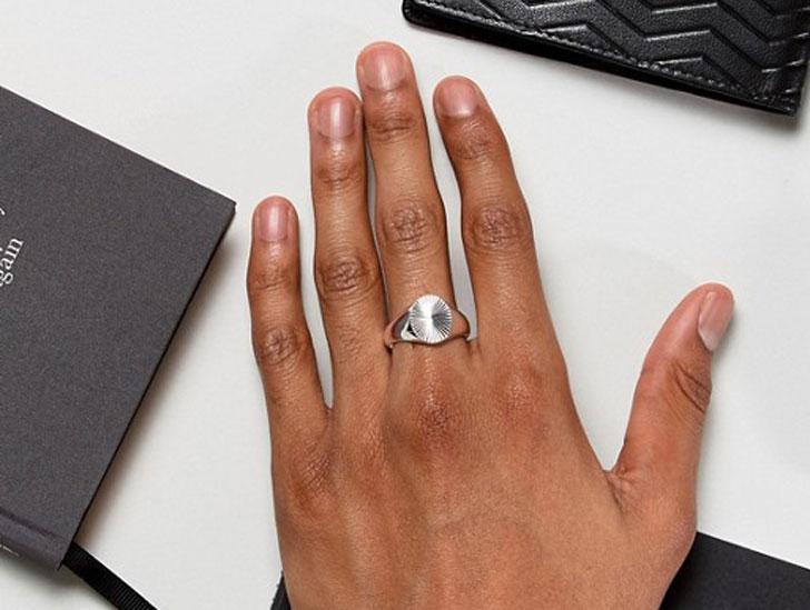 Seven London Sterling Silver Signet Ring