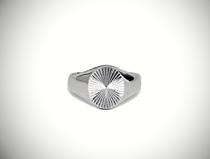 Seven London Sterling Silver Signet Ring