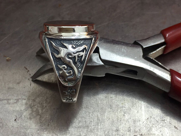 Silver Dragon Signet Ring