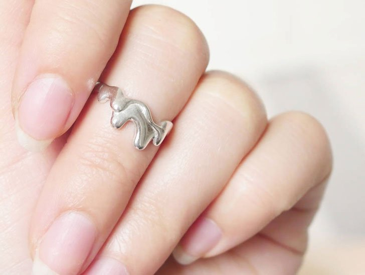 Silver Honey Drip Ring