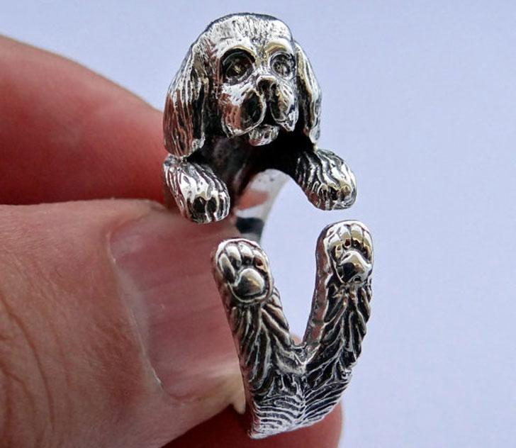 Silver Shih Tzu Dog Ring