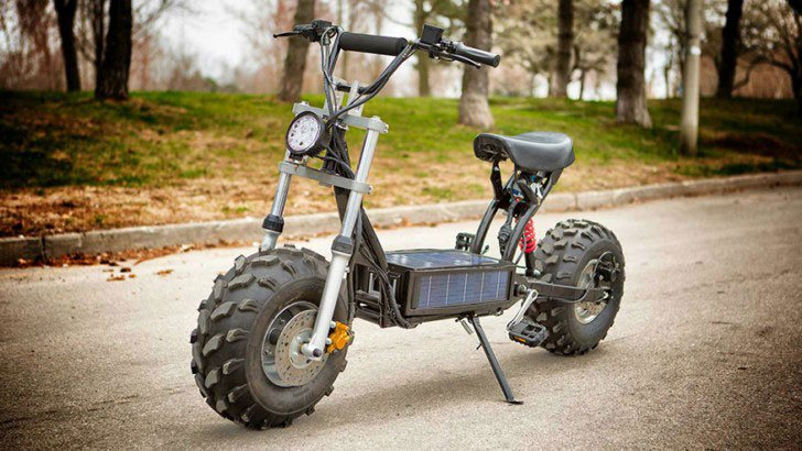 Scooter Off-Road Solar-Powerd