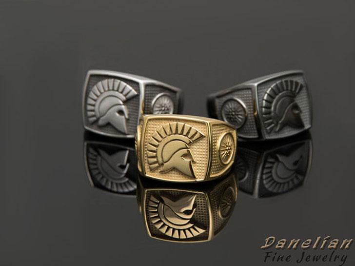 Sparta Warrior Signet Rings - Signet Rings for Men