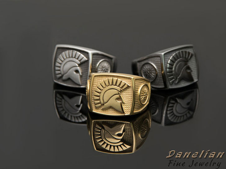 Sparta Warrior Signet Rings - Signet Rings for Men