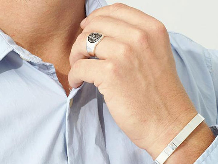 Sterling Silver Carpe Diem Signet Ring