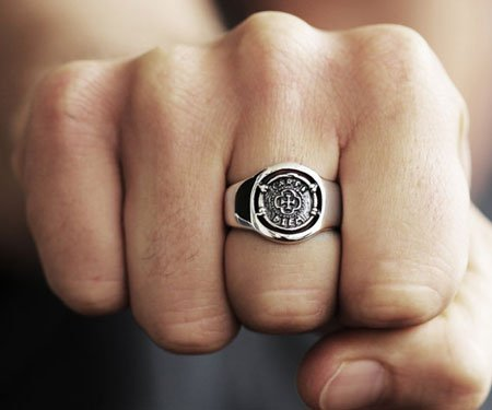 Sterling Silver Carpe Diem Signet Ring