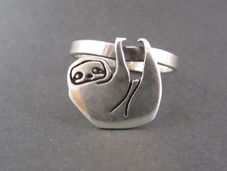 Sterling Silver Sloth Ring