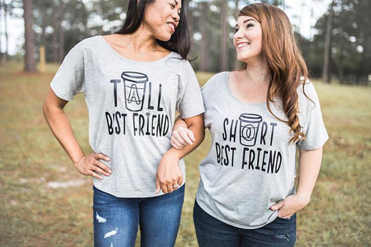 Tall & Short Best Friend Shirts