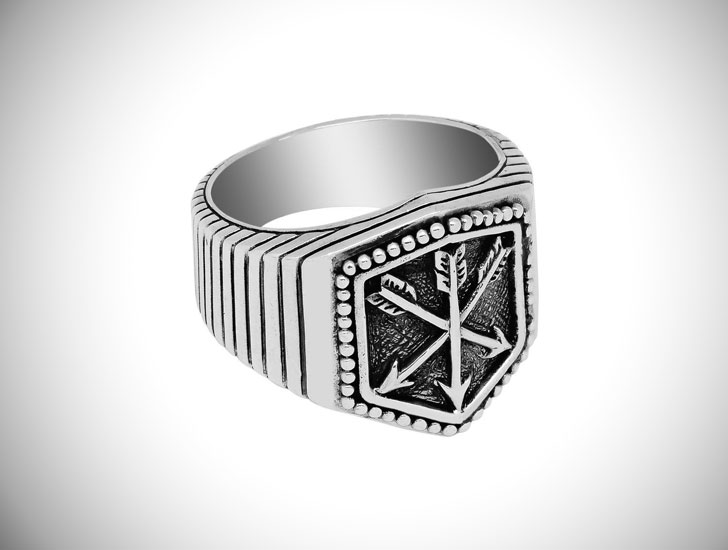 Three Arrows Signet Ring - Signet Rings for Men