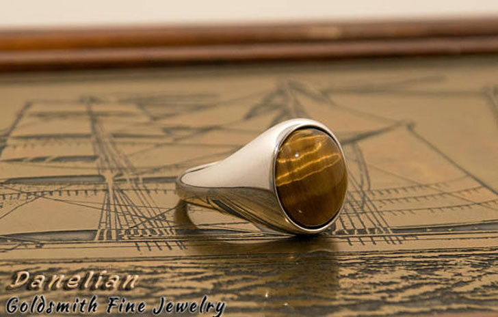 Tiger Eye Signet Ring