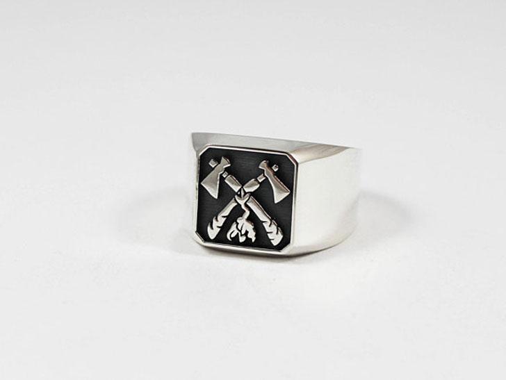 Tomahawk Signet Ring - Signet Rings for Men
