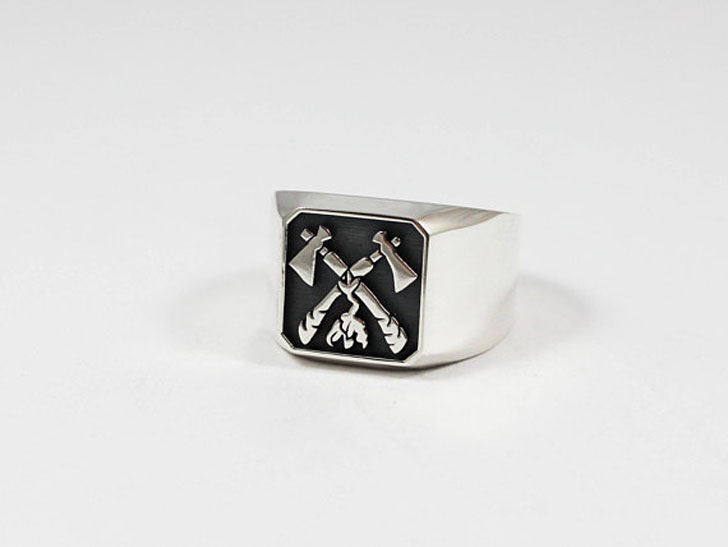 Tomahawk Signet Ring - Signet Rings for Men
