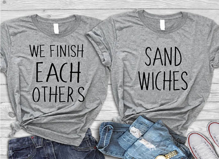 We Finish Each Others Sandwiches BFF Shirts