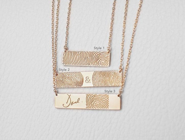 Actual Fingerprint Necklaces - Sentimental Gifts For Mom