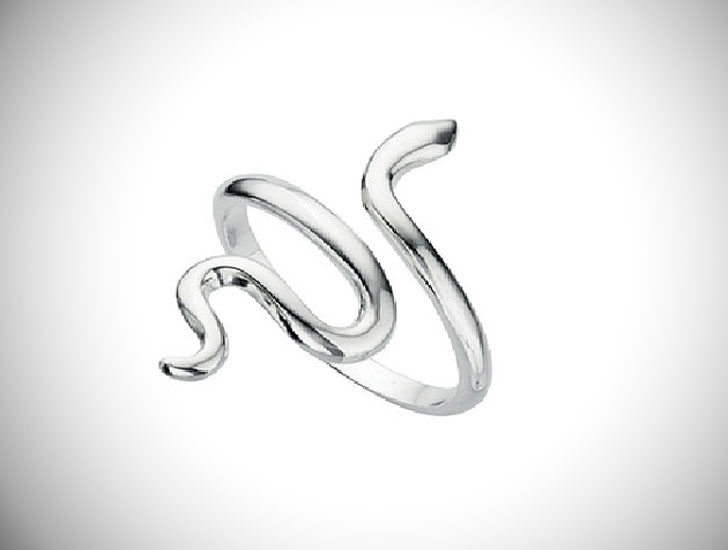 Adjustable Silver Snake Thumb Ring