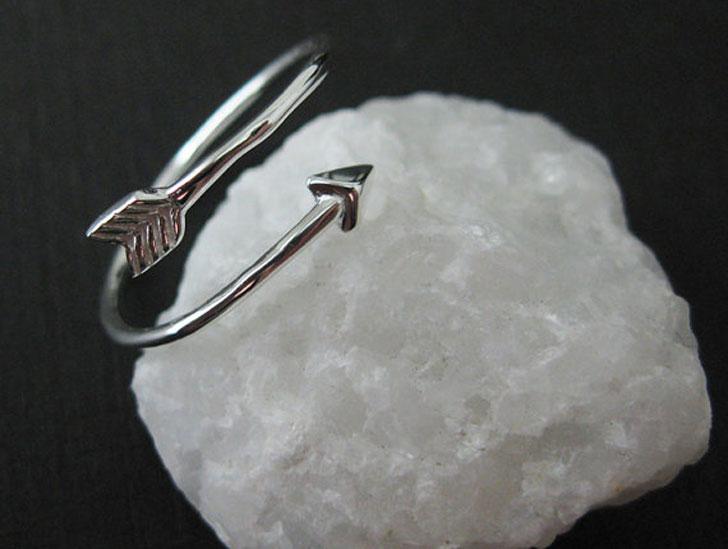 Adjustable Sterling Silver Arrow Rings