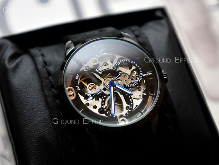 Automatic Skeleton Steampunk Watch