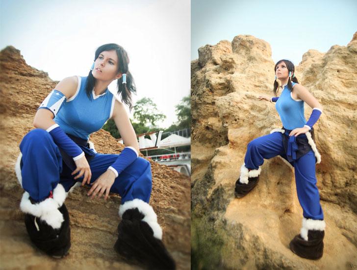 Avatar légende du costume de cosplay Anime Korra