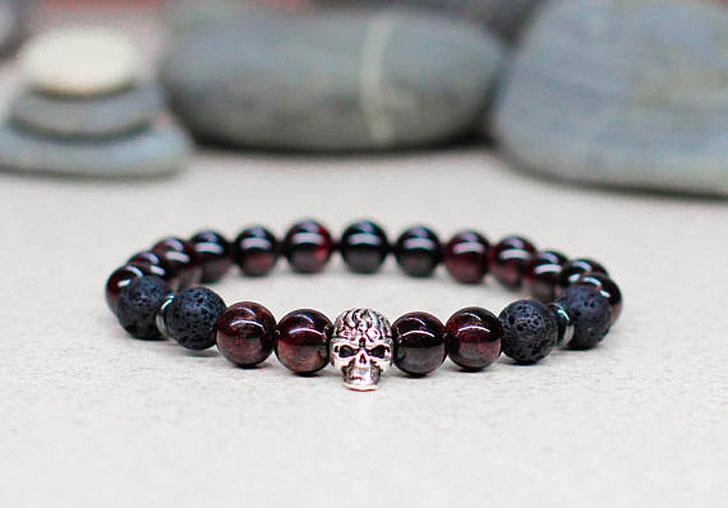 Beaded Skull Energy Bracelet