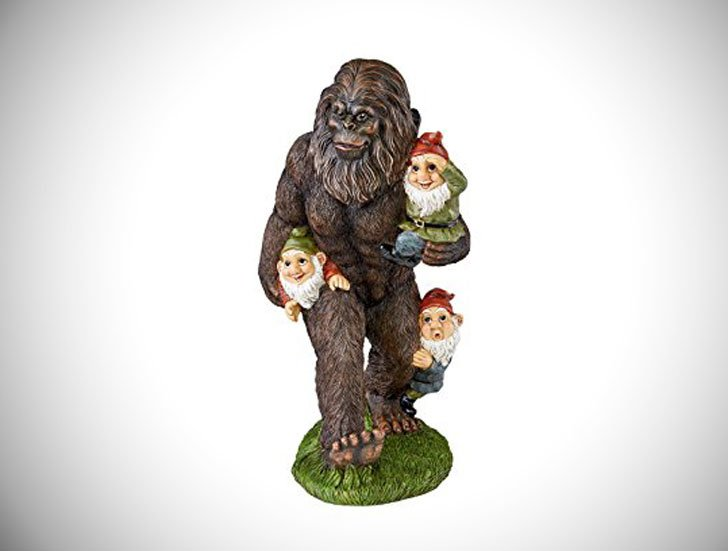 Bigfoot With Gnomes Statue