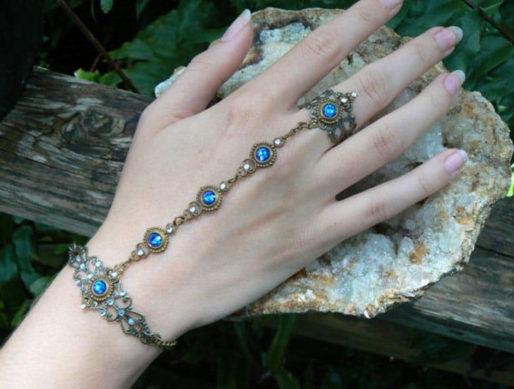 Blue Swarovski Slave Bracelet