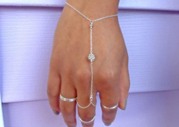Boho Crystal Ring Bracelet