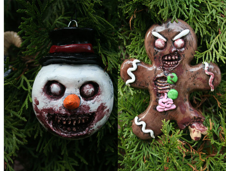 Creepy Horror Christmas Ornament Set