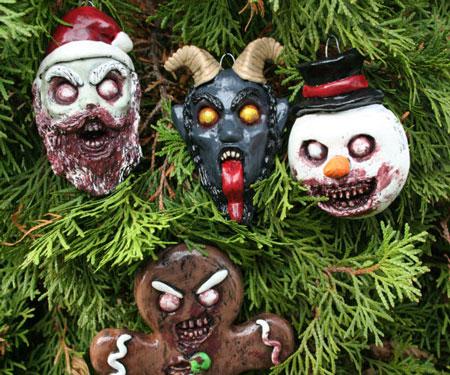 Creepy Horror Christmas Ornament Set