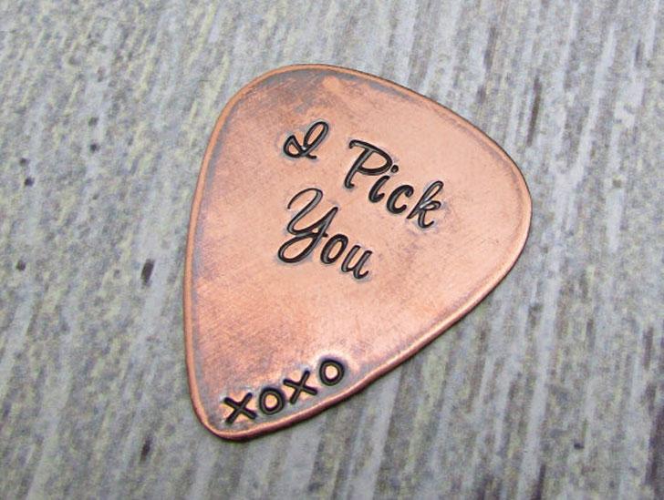 Custom Copper Guitar Pick