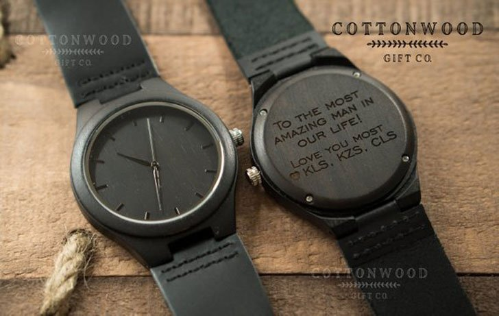 Custom Engraved Wooden Watch