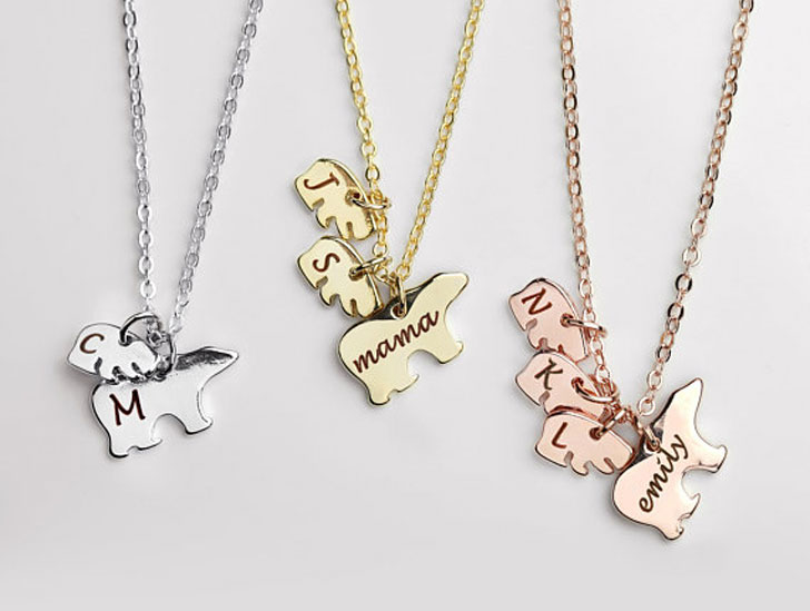 Custom Hand Stamped Mama Bear Necklaces