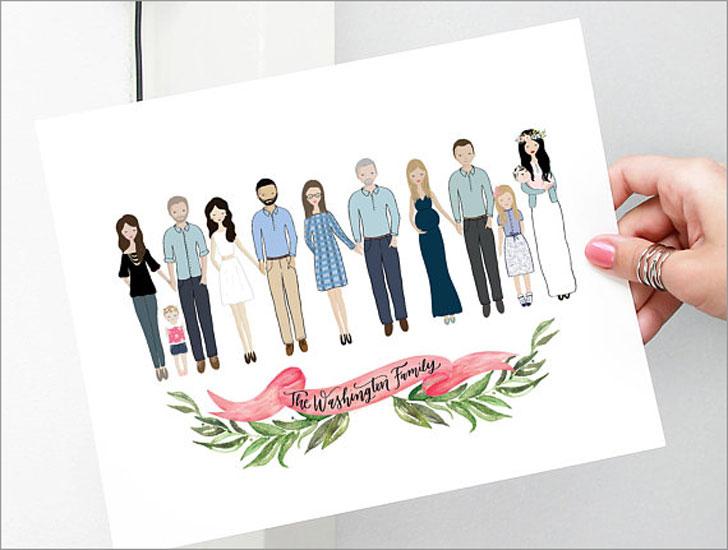 Custom Illustrated Family Portraits