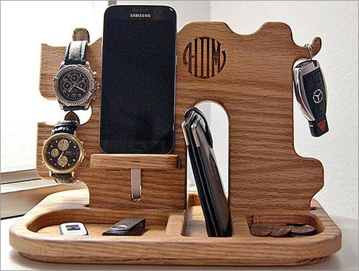 Custom Monogrammed Men's Docking Station