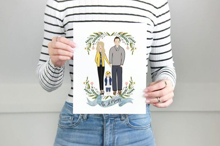Custom Portrait of Couple