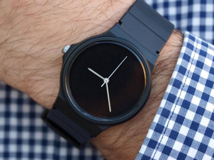 Custom Satin Black Casio Watch