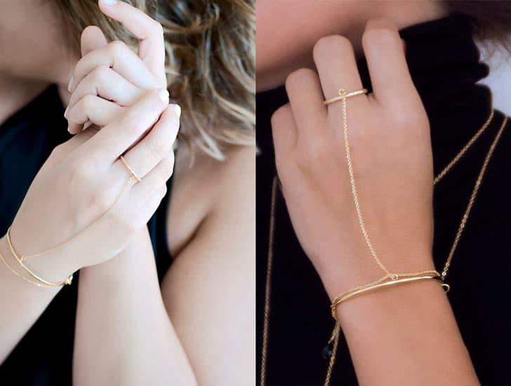 Dainty Ring Bracelet